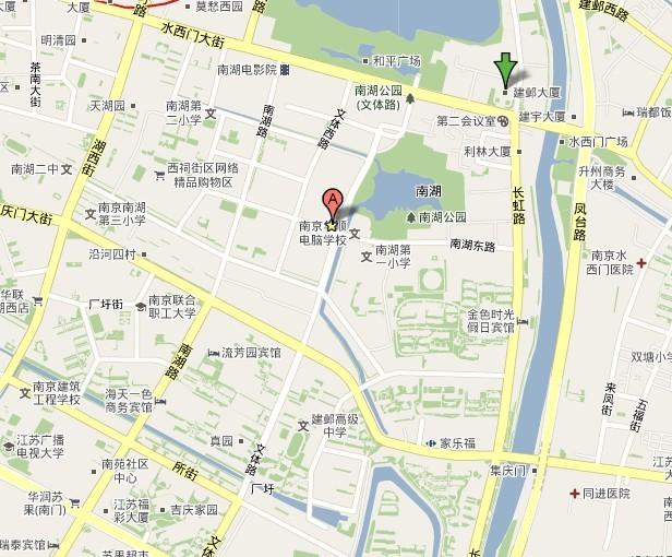 2012年江苏公务员考试南京考点地图及公交线路